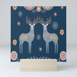 Nordic Winter Blue Mini Art Print