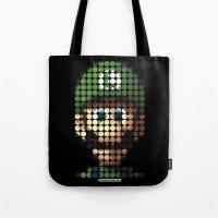 luigi Tote Bags featuring Pictodotz - Luigi by dudsbessa