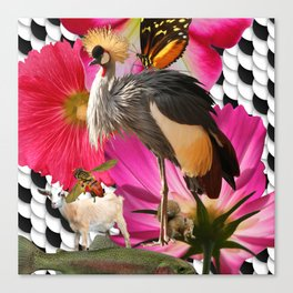 Crested Crown, Squirrel, trout, craziness Canvas Print
