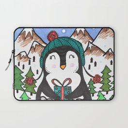Warm Wishes Holiday Penguin Laptop Sleeve