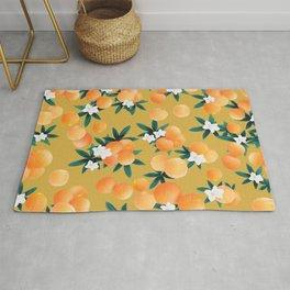 Orange Twist Flower Vibes #5 #tropical #fruit #decor #art #society6 Rug