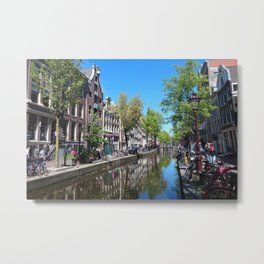 Amsterdam Red Light District Metal Print