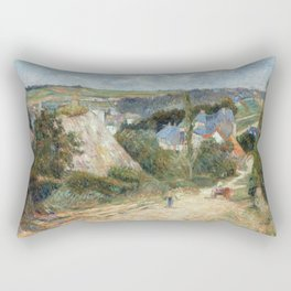 Entrance to the Village of Osny by Paul Gauguin Rectangular Pillow