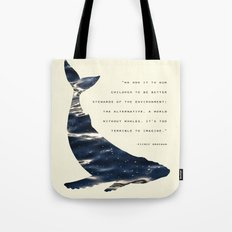 World Without Whales Tote Bag