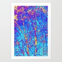 birch Art Prints featuring Birch by Tru Artwear