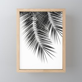 Black Palm Leaves Dream - Cali Summer Vibes #2 #tropical #decor #art #society6 Framed Mini Art Print
