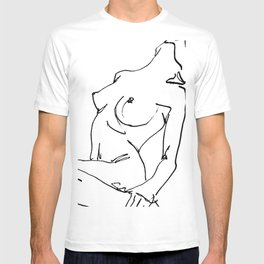 Nude drawing T-shirt
