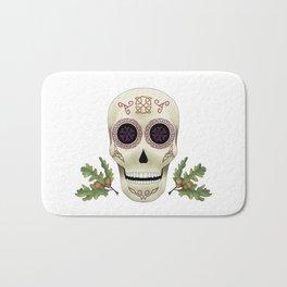Knotwork Skull Bath Mat