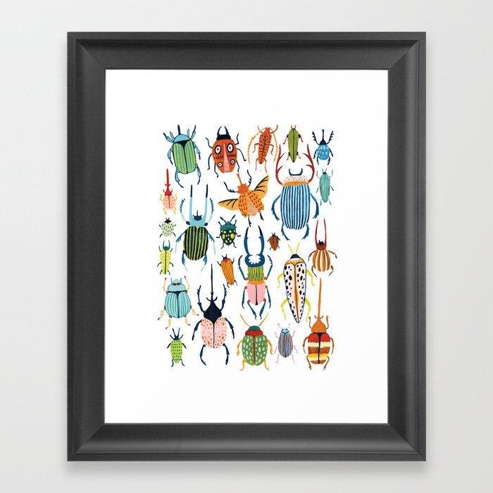 Woodland Beetles Gerahmter Kunstdruck