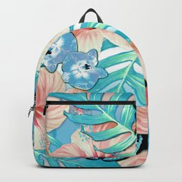 Tropical Spring Aqua Backpack