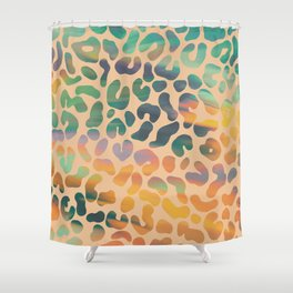 Funky Leopard Shower Curtain