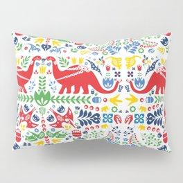 Swedish Folk Art Dinosaurs Pillow Sham