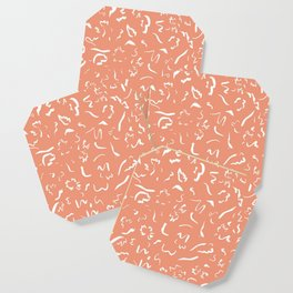 Freely Scribbled - Terracotta Coaster