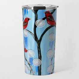 Winter Tress Travel Mug