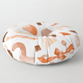 geometric shapes peach Floor Pillow