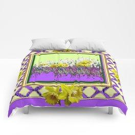 PANTENE ULTRA VIOLET PURPLE DAFFODIL GARDEN DECORATIVE ART Comforters