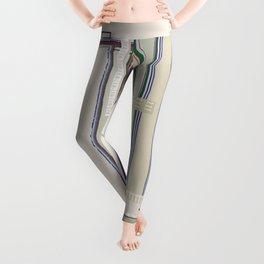 Metaphysical Oatmeal Taupe Sage geometric graphic design Leggings