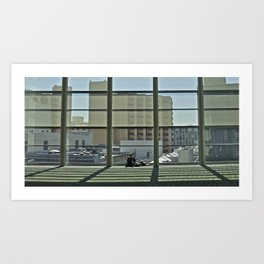 A window and a geek Art Print