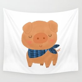 Fancy Pig Wall Tapestry