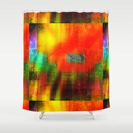 Spectrum Orange Shower Curtain