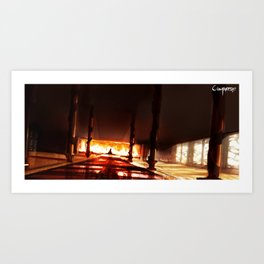 Fire Nation Throne Room Art Print