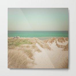 Beach dune miniature 4 Metal Print