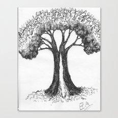 the people tree Canvas Print