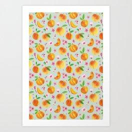 Palisade Peaches Aloe Art Print