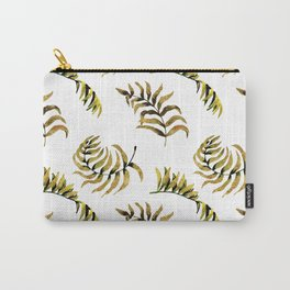Exotic Gold Palm Leaves Pattern Carry-All Pouch