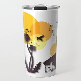 Dandelion And Hedgehog No. 3 Travel Mug