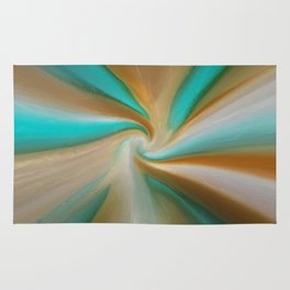 Blue green and brown art Rug