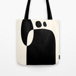 shapes black white minimal abstract art Tote Bag