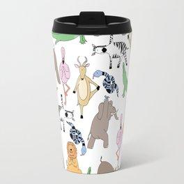 safari animal yoga Travel Mug