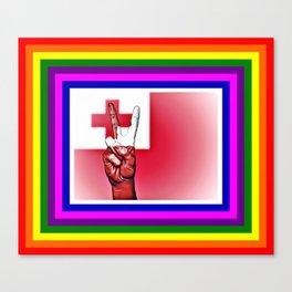 Tonga World Peace Flag Canvas Print