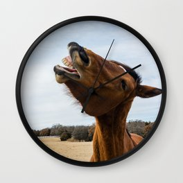 Laugh and the world laughs with you Wall Clock