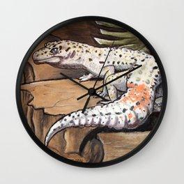 Leopard Gecko Art Wall Clock