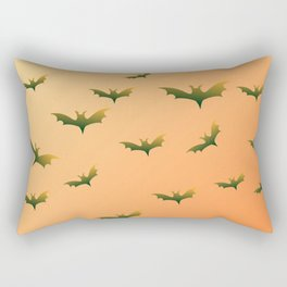 Bats (orange bg) Rectangular Pillow