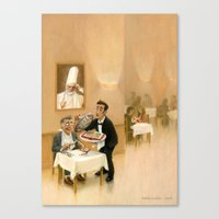 literature Canvas Prints featuring Gourmet of literature by Robin Guinin