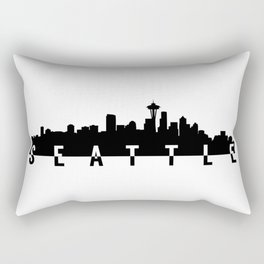 seattle city skyline Rectangular Pillow