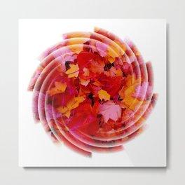 Swirling colored leaves Metal Print