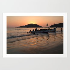 Returning from Dolphin Trip Palolem Art Print