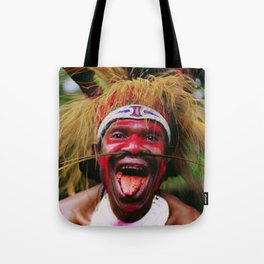 Eating a Betel Nut in Papua New Guinea Tote Bag