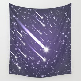 Flying meteors. Ultra violet. Wall Tapestry