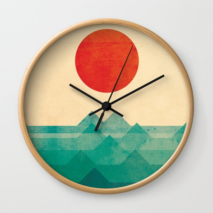 The ocean, the sea, the wave Wall Clock by budikwan | Society6