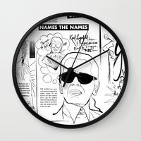 karl lagerfeld Wall Clocks featuring Karl Lagerfeld by CLSNYC