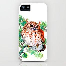 Your Best Friend Owl, woodland Owl art,, children illustration of OWL iPhone Case