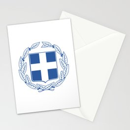 Coast of arms of Greece Stationery Cards