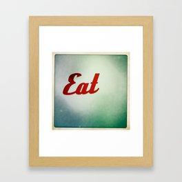 Eat Framed Art Print