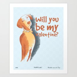 Doggy Valentine Art Print