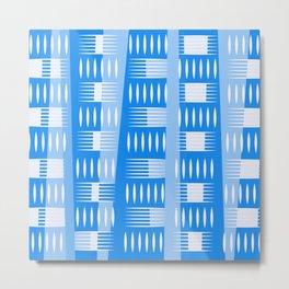 Blue Geometric Forms Metal Print